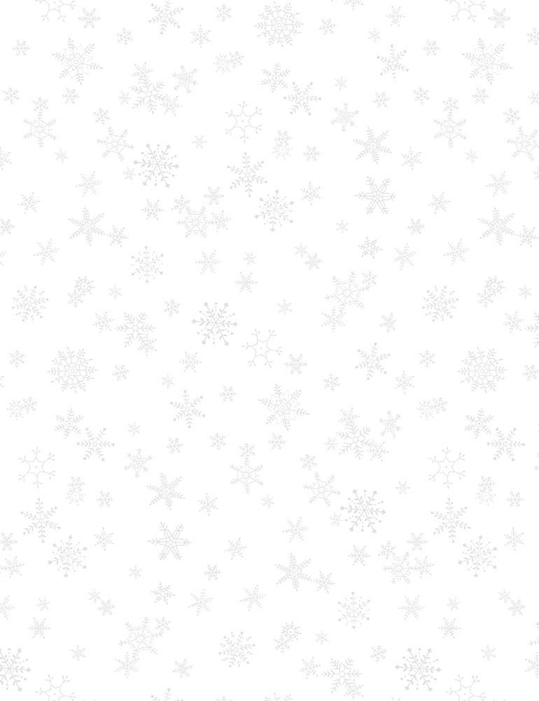 HUE-C9635/WHITE / SNOWFLAKES