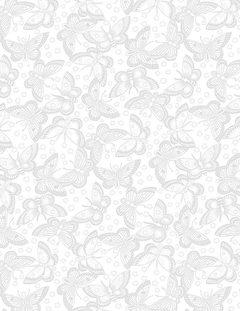 HUE-C6565/WHITE / BUTTERFLIES