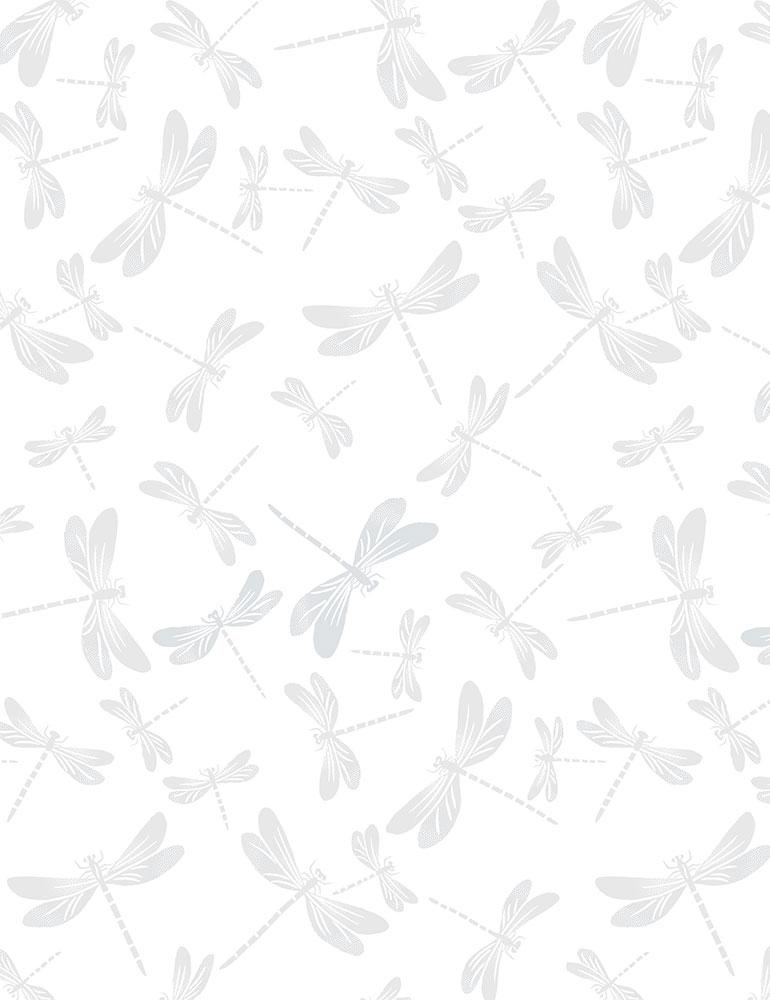 HUE-C7717/WHITE / DRAGONFLIES