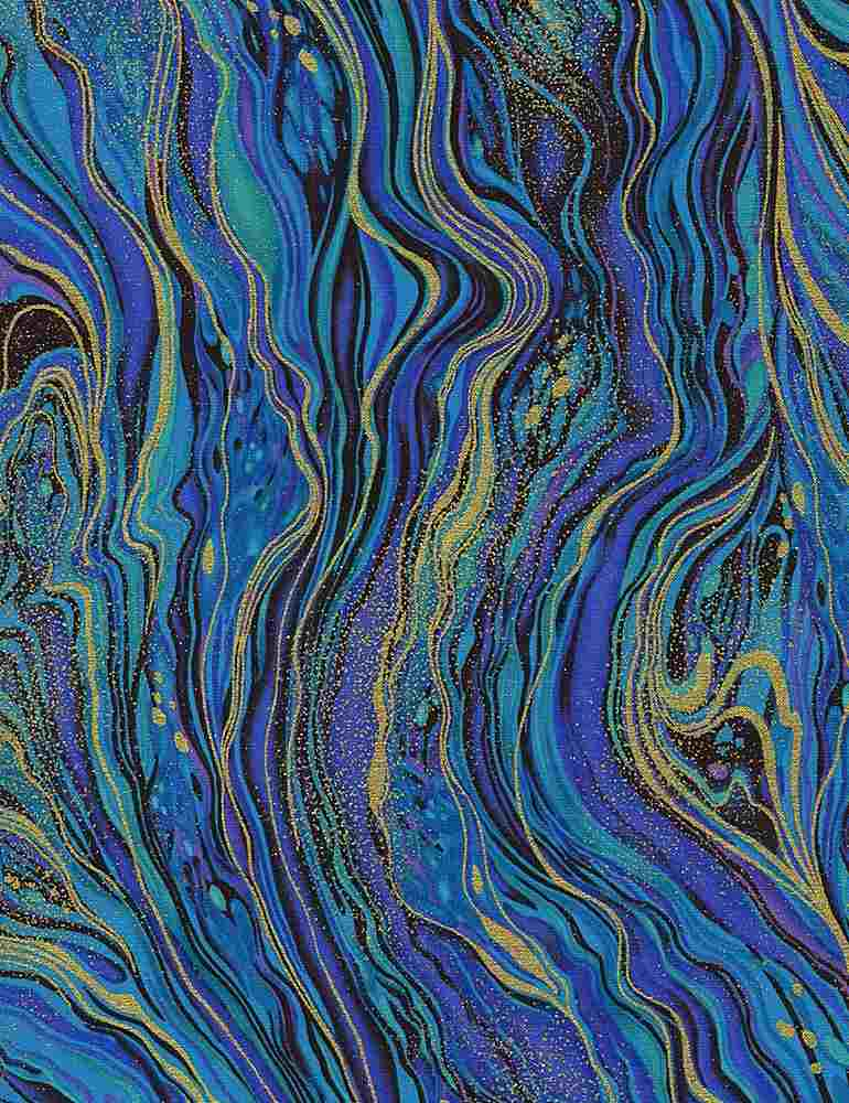 PALAZZO-CM2210 / PEACOCK / ABSTRACT MARBLING