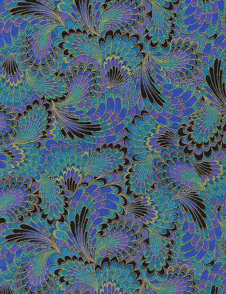 PALAZZO-CM2213 / PEACOCK / ABSTRACT ENDPAPER