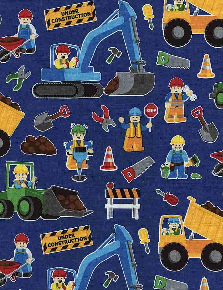KIDZ-C2749/ROYAL / CONSTRUCTIONWORKERS