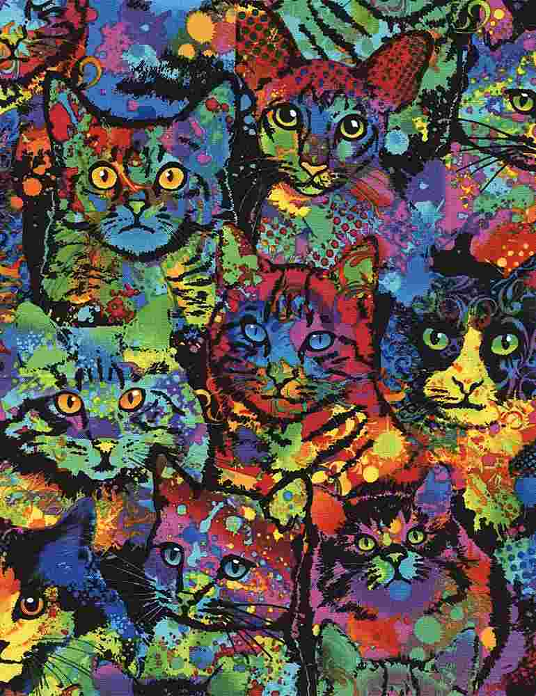 CAT-C4140 / MULTI / PAINT SPLATTER CATS