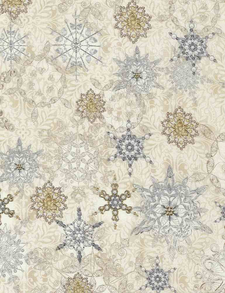 HOLIDAY-CM5166 / NATURAL / SNOWFLAKE COLLAGE