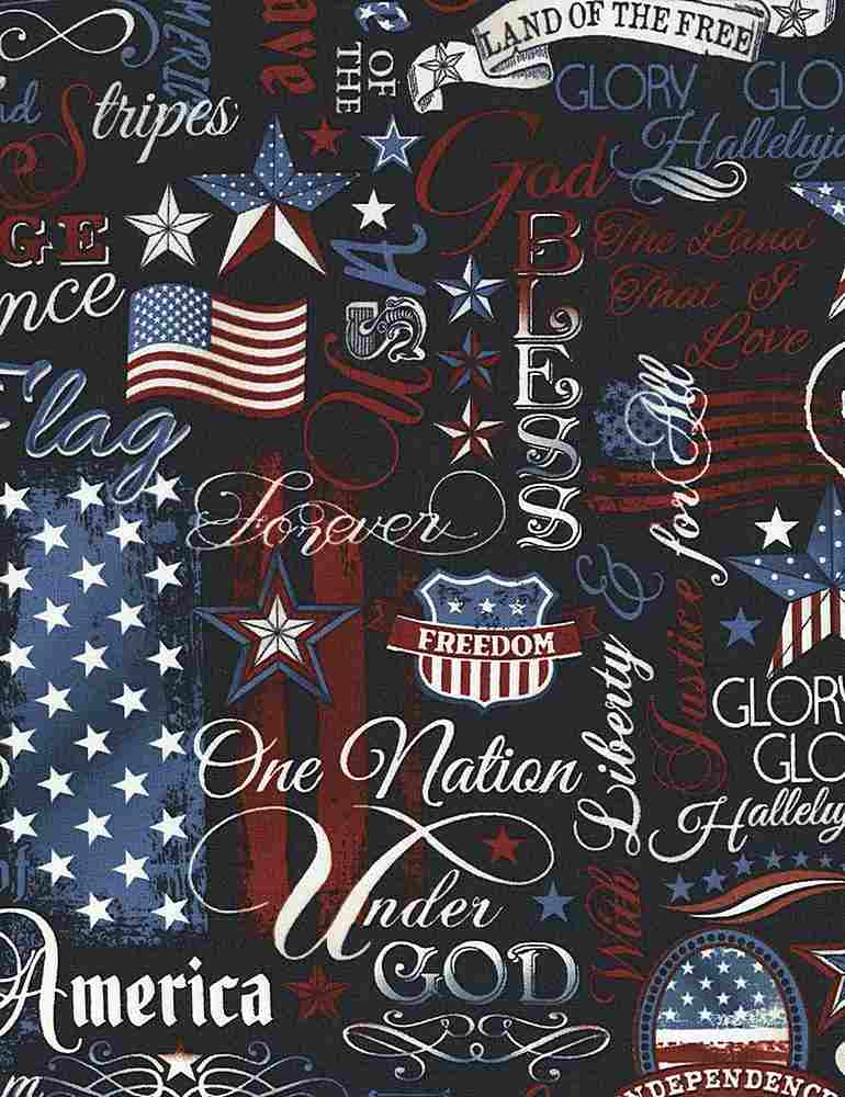 USA-C5280 / NAVY / PATRIOTIC WORDS