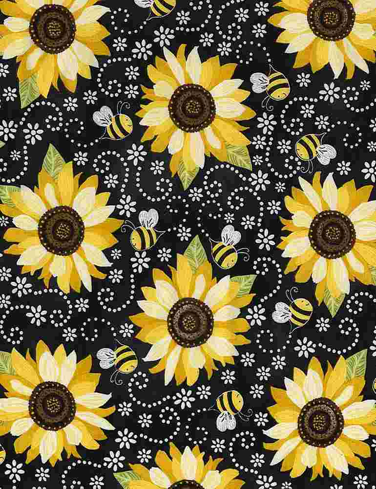 GAIL-C5345 / BLACK / SUNFLOWER & BEE CHALKBOARD