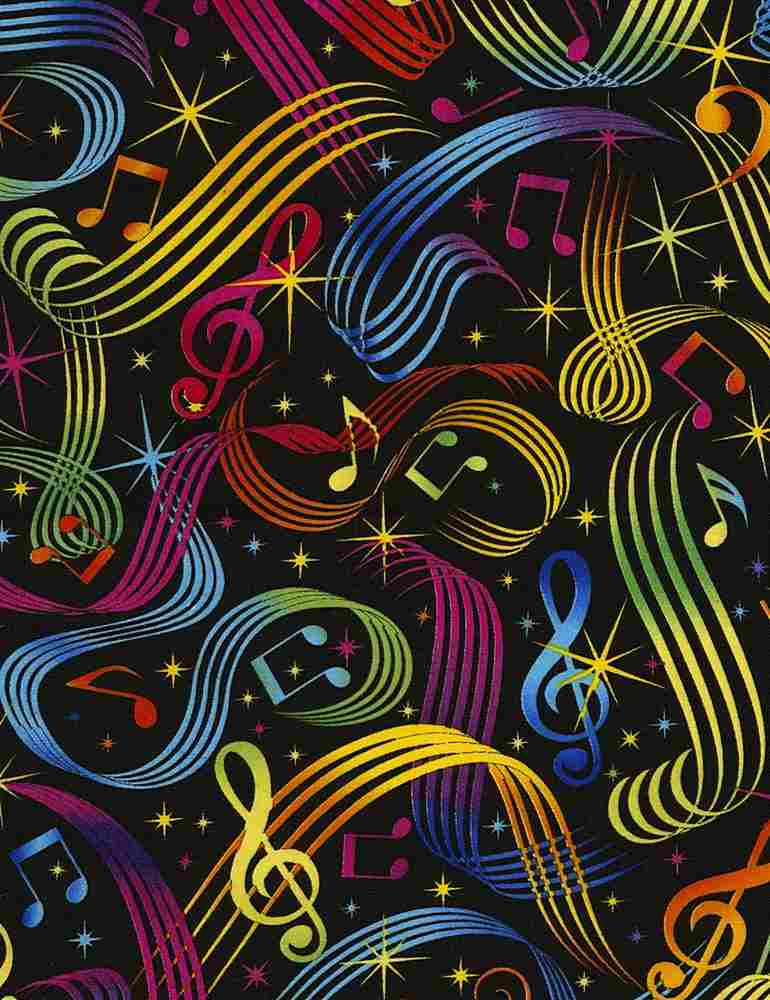 MUSIC-C5397 / MULTI / BRIGHT MUSIC NOTES