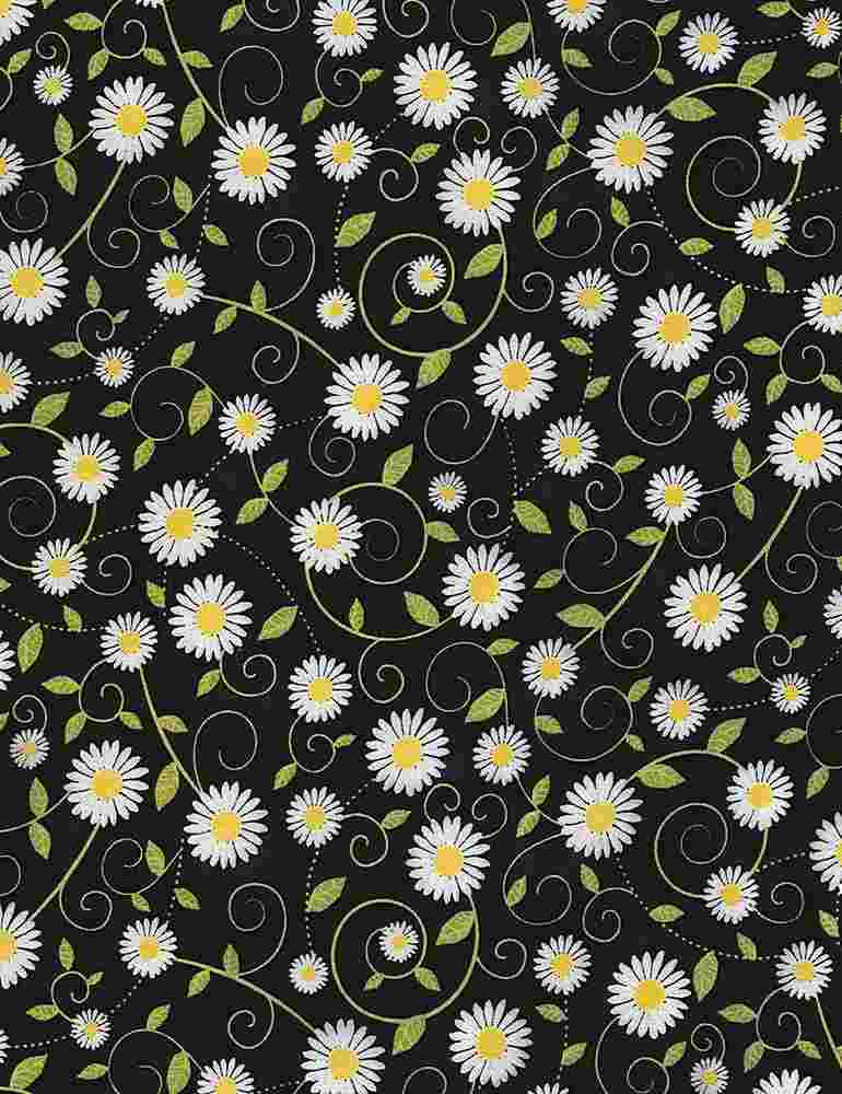 GAIL-C5498 / BLACK / DAISY VINES