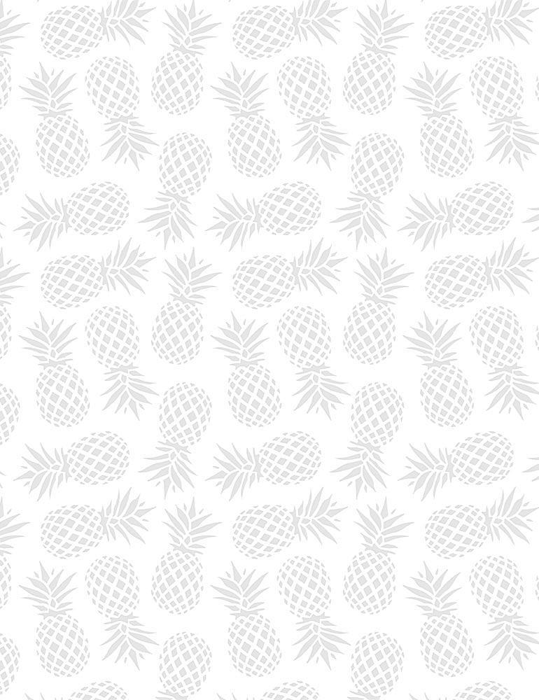 HUE-C6074/WHITE / PINEAPPLES