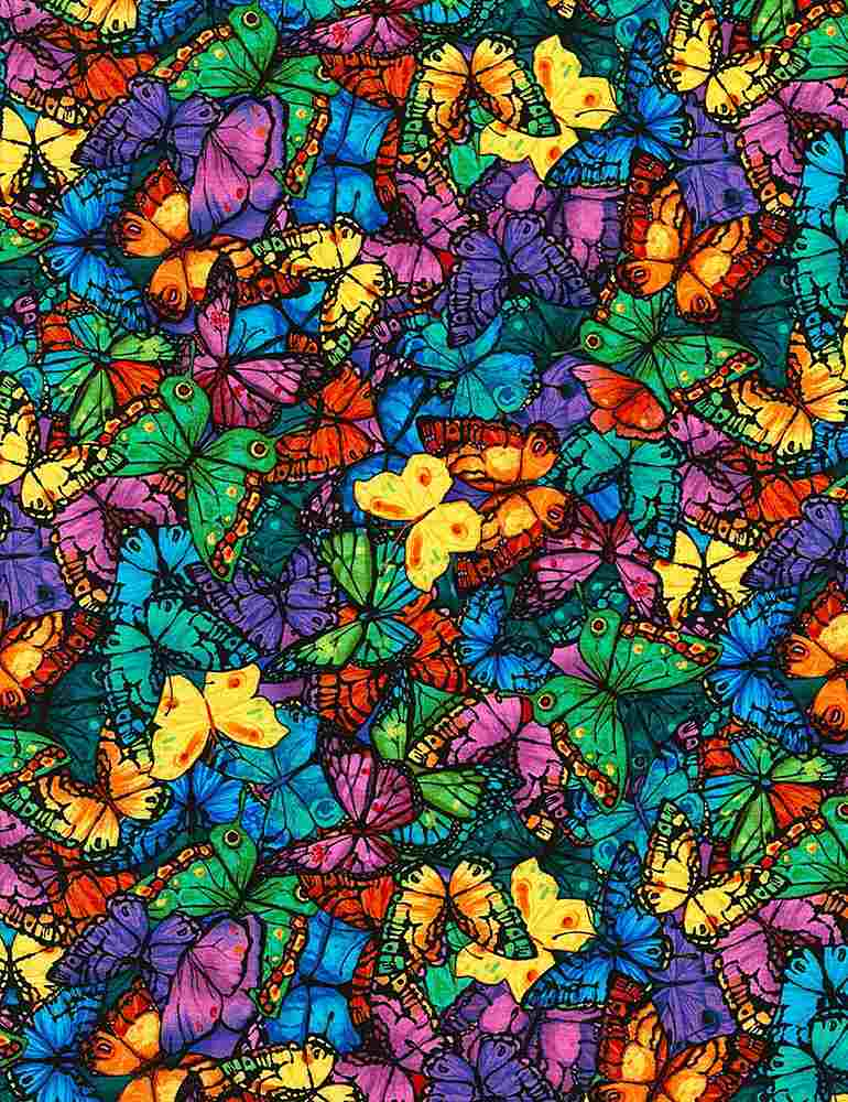 PAVILION-C6324 / BRIGHT / PACKED BUTTERFLIES