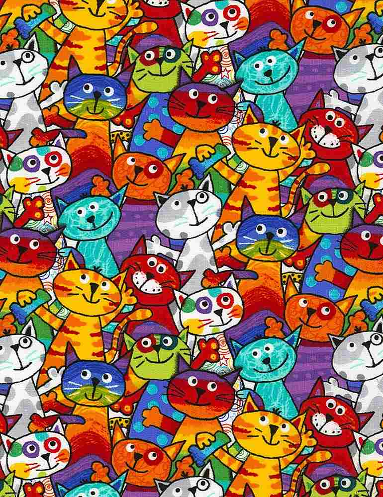 GAIL-C6341 / MULTI / STACKED CATS