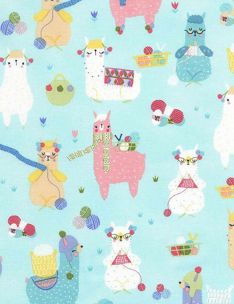 FUN-C6397 / AQUA / KNITTING ALPACAS