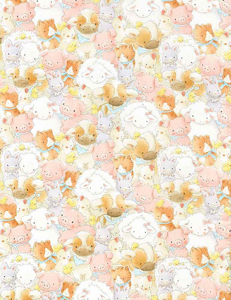 BUNNIES-CF5831 / MULTI / PACKED FARM ANIMALS