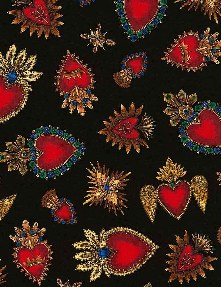 HEART-C6620/BLACK / SACREDHEARTS
