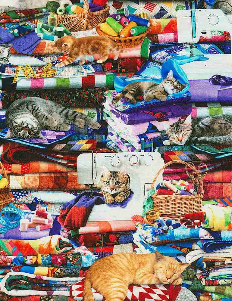 CAT-CD6878 / MULTI / CATS ON QUILTS