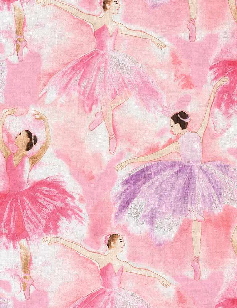 BALLET-CM6890 / BUBBLEGUM / WATERCOLOR BALLERINAS