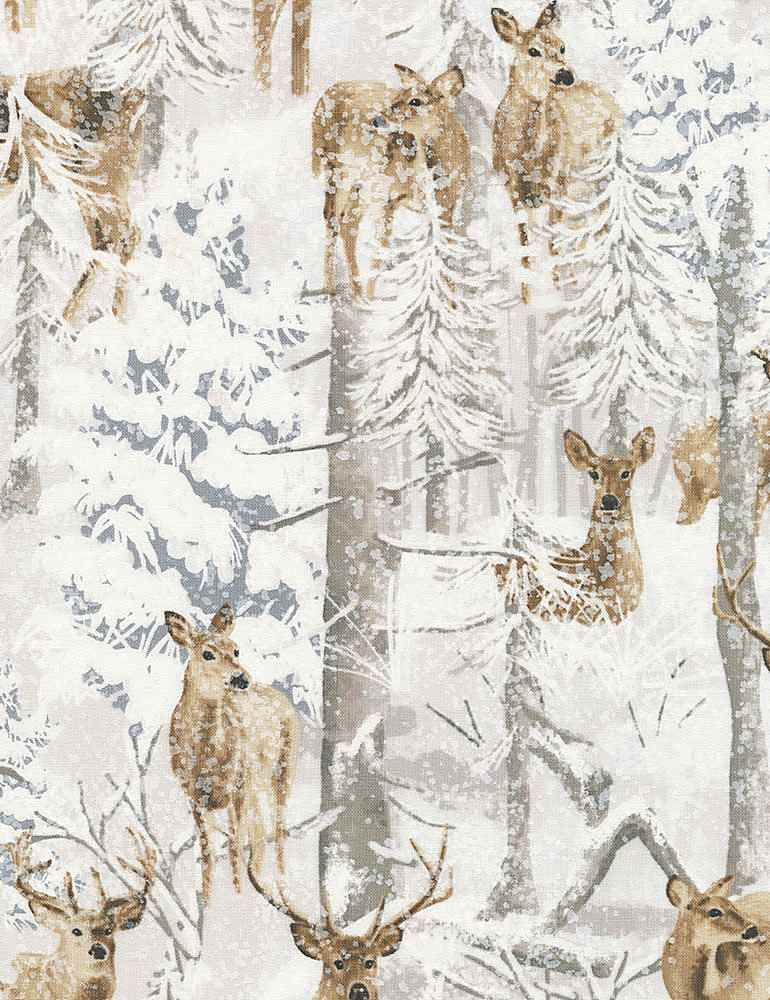 WINTER-C7027 / SNOW / DEER IN SNOW