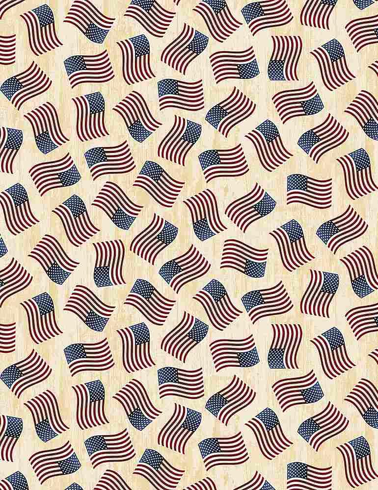 USA-C7048/CREAM / TOSSEDAMERICANFLAGS