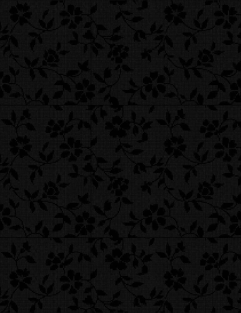 HUE-C7094/BLACK / DELICATEFLOWERS