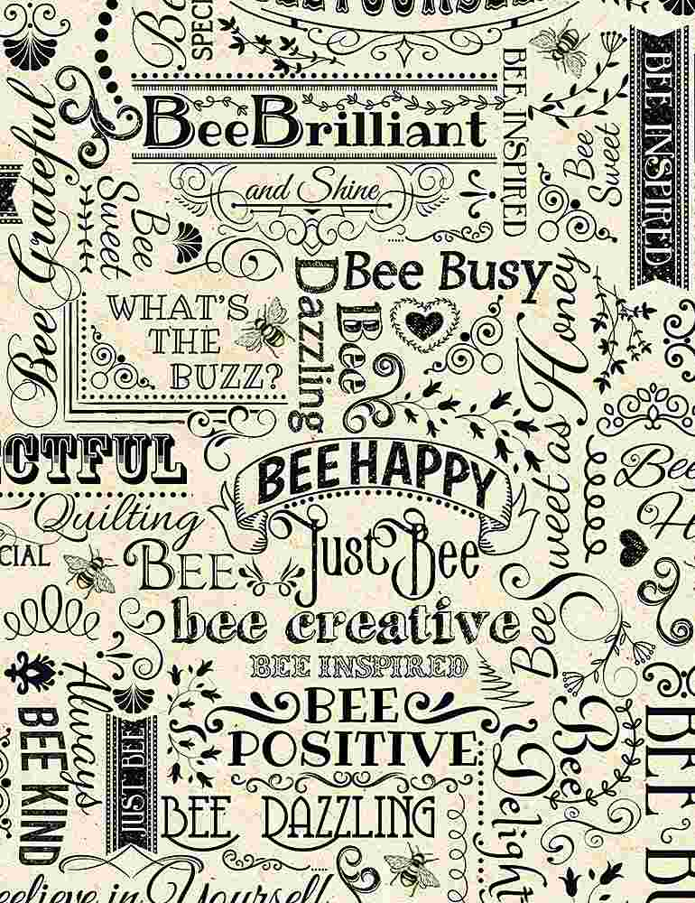 BEE-C7172 / NATURAL / Bee Words