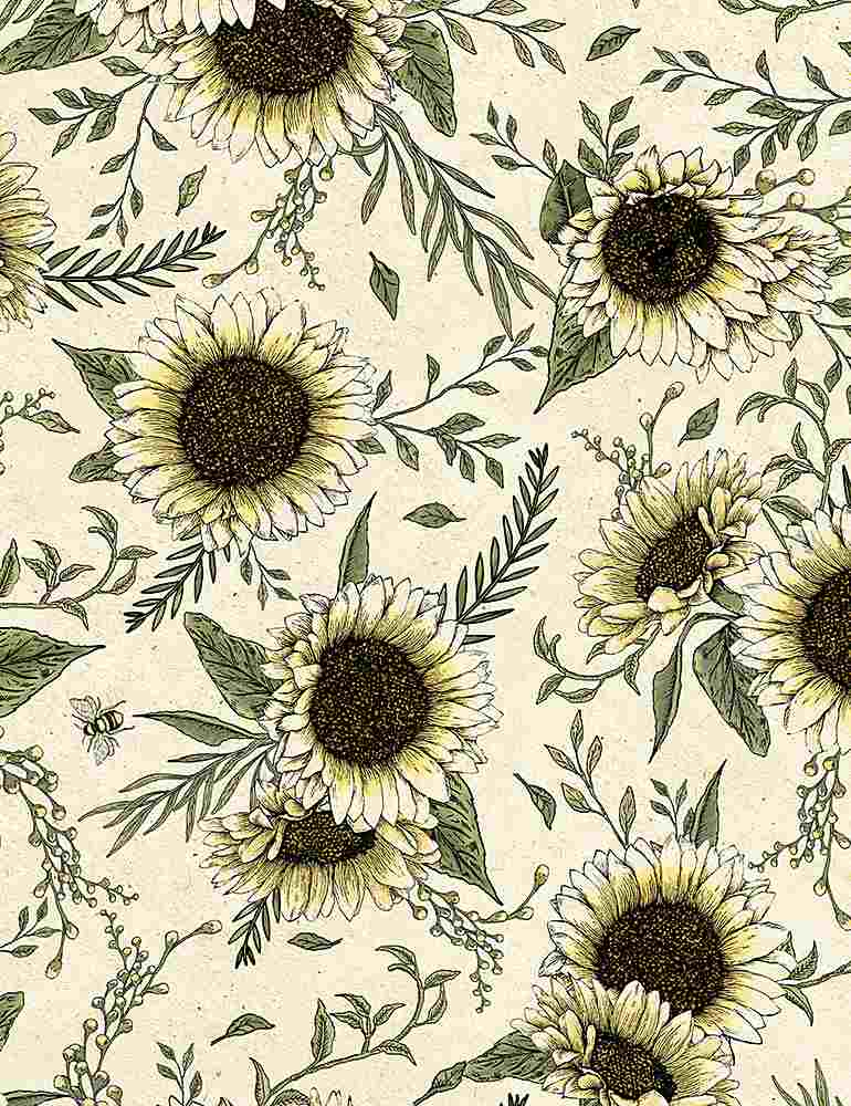 BEE-C7174/NATURAL / Sunflowers