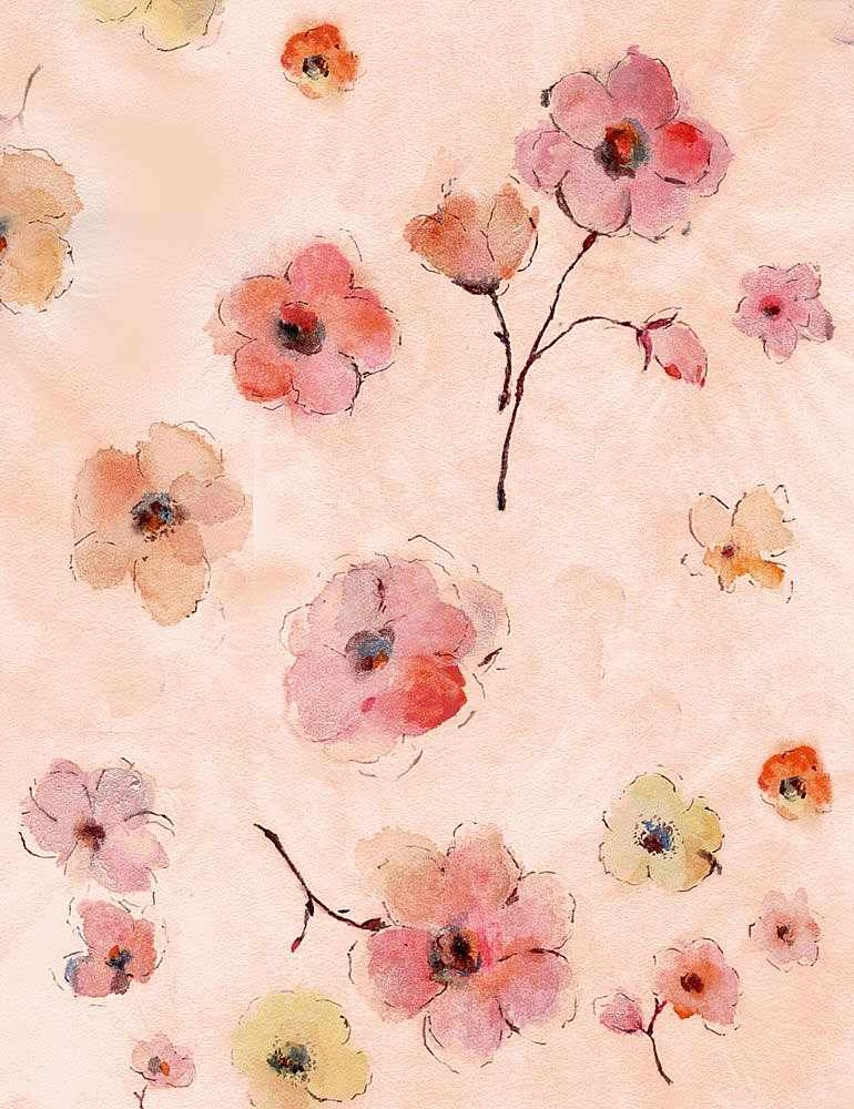 FLEUR-CD7193 / PINK / WATERCOLOR ALL OVER FLOWERS