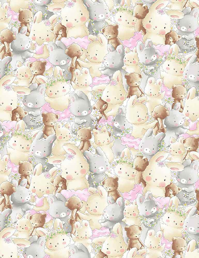 BUNNIES-CF7247 / MULTI / PACKED BUNNY AND BEAR