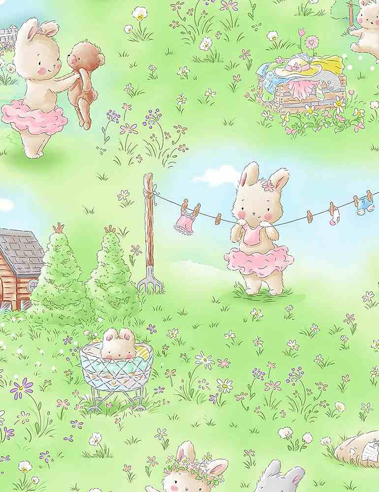 BUNNIES-CF7244 / MULTI / BUNNY IN THE MEADOW