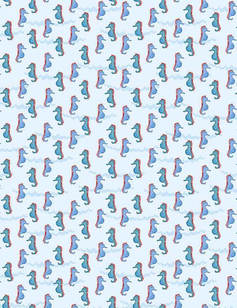 GAIL-C7267/BLUE / SEAHORSES