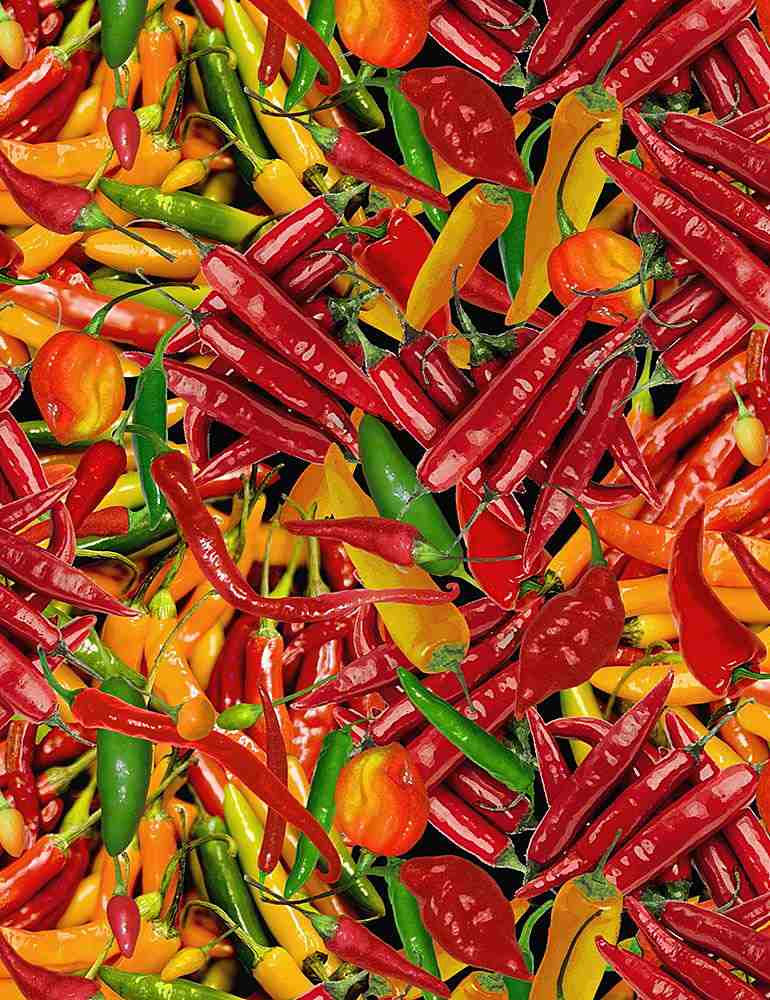 WEST-C7355 / MULTI / PACKED HOT PEPPERS