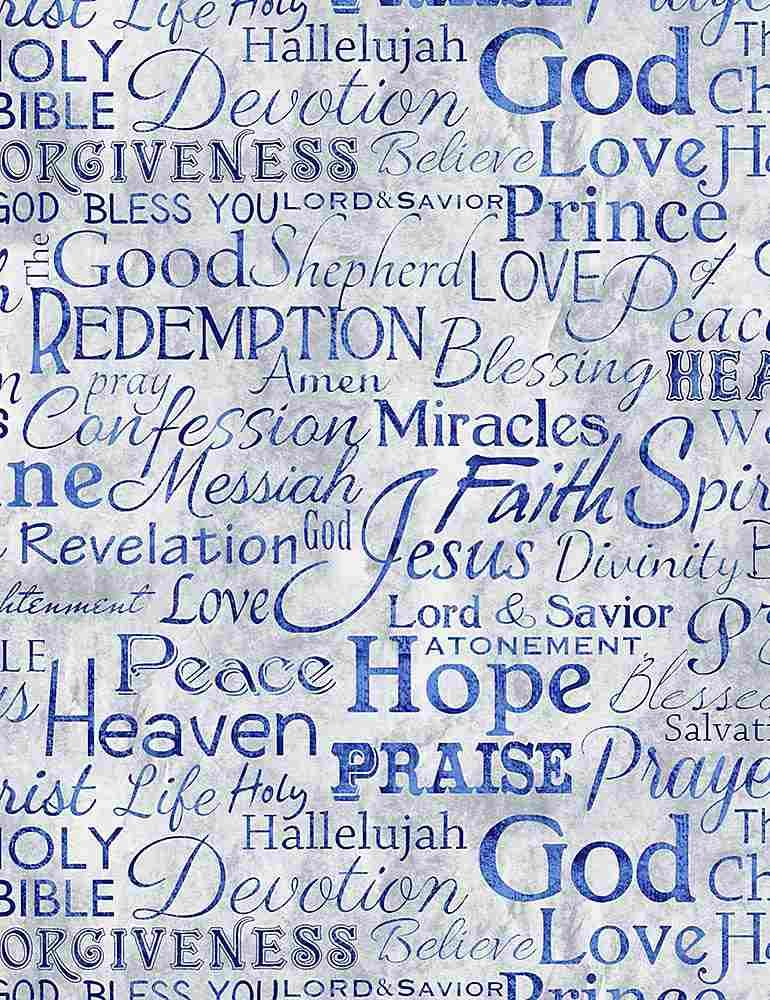 FAITH-C4720/BLUE / RELIGIOUSPHRASES