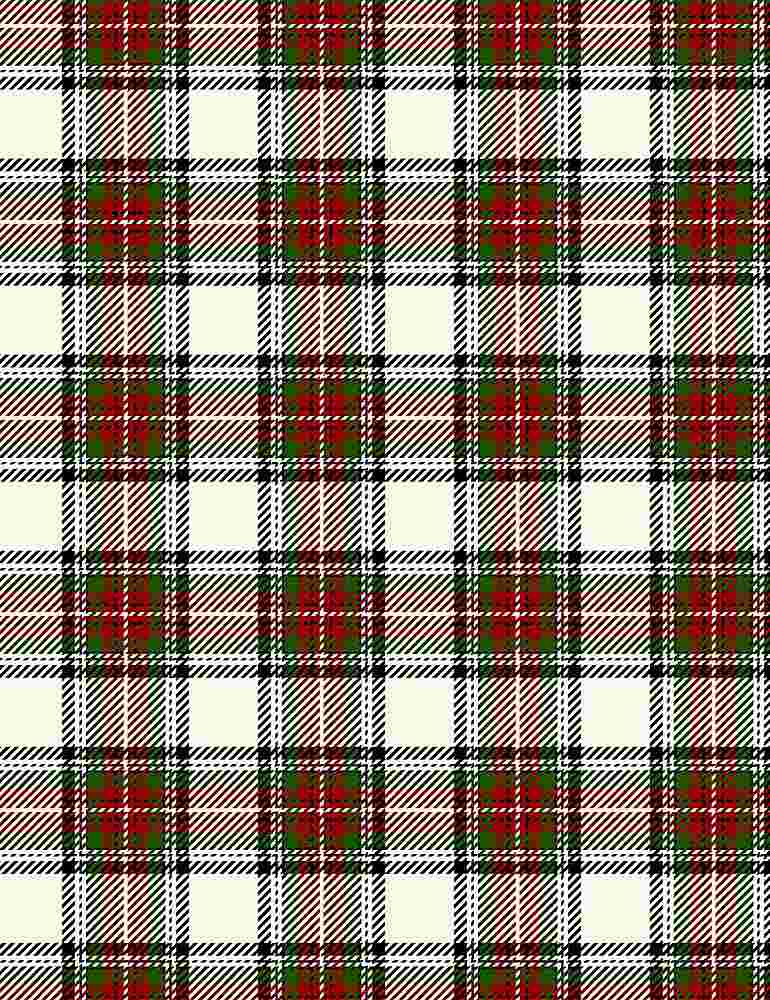 PLAID-CF7059 / CREAM / HOLIDAY PLAID