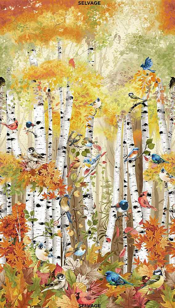 "PANEL-CD7408 / MULTI / 24"" BIRCH SONG PANEL"