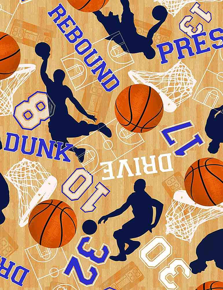 SPORT-C7377 / TAN / BASKETBALL GAME MOTIFS