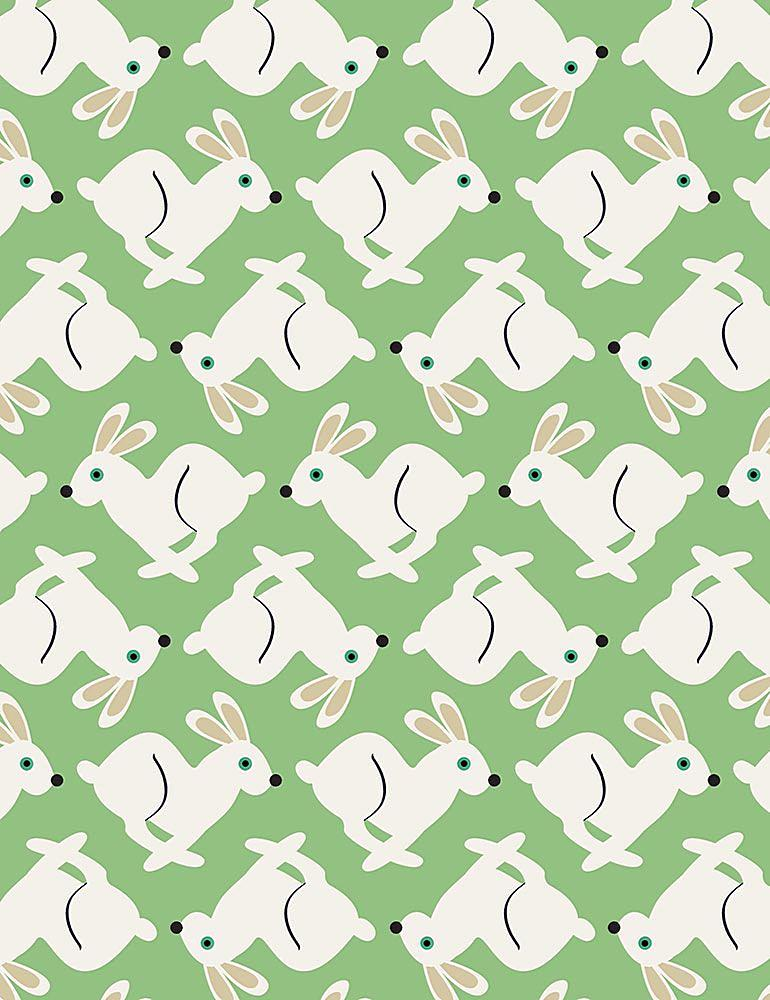 FUN-C7442 / GREEN / WHITE RABBITS