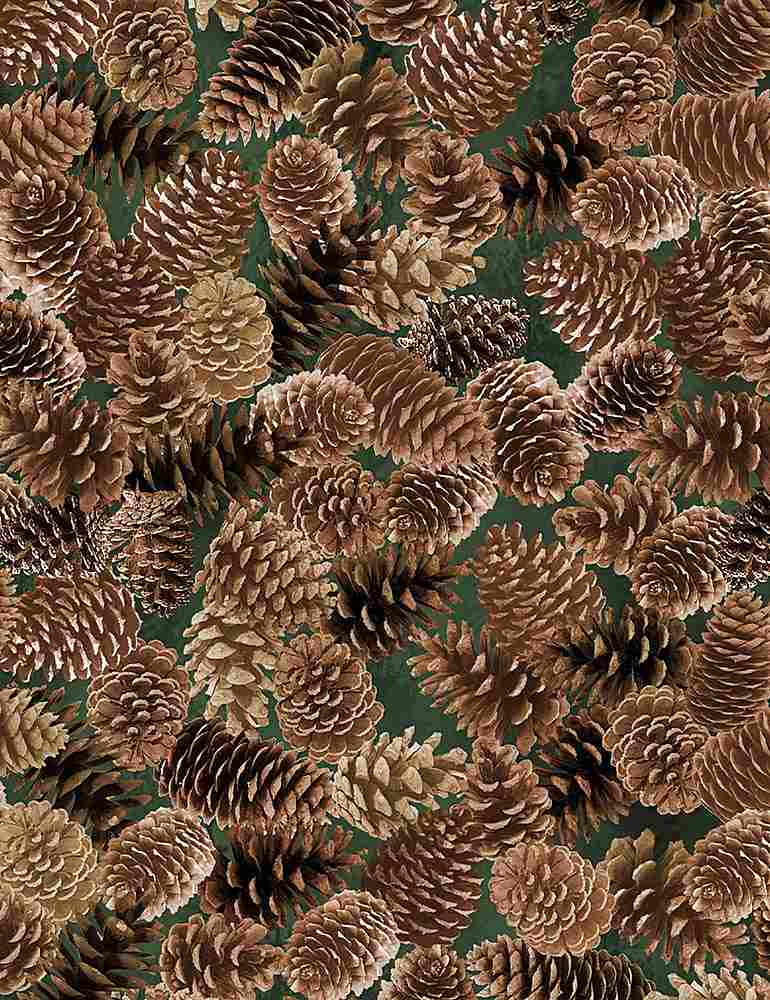 NATURE-C7466 / BROWN / PACKED PINECONES