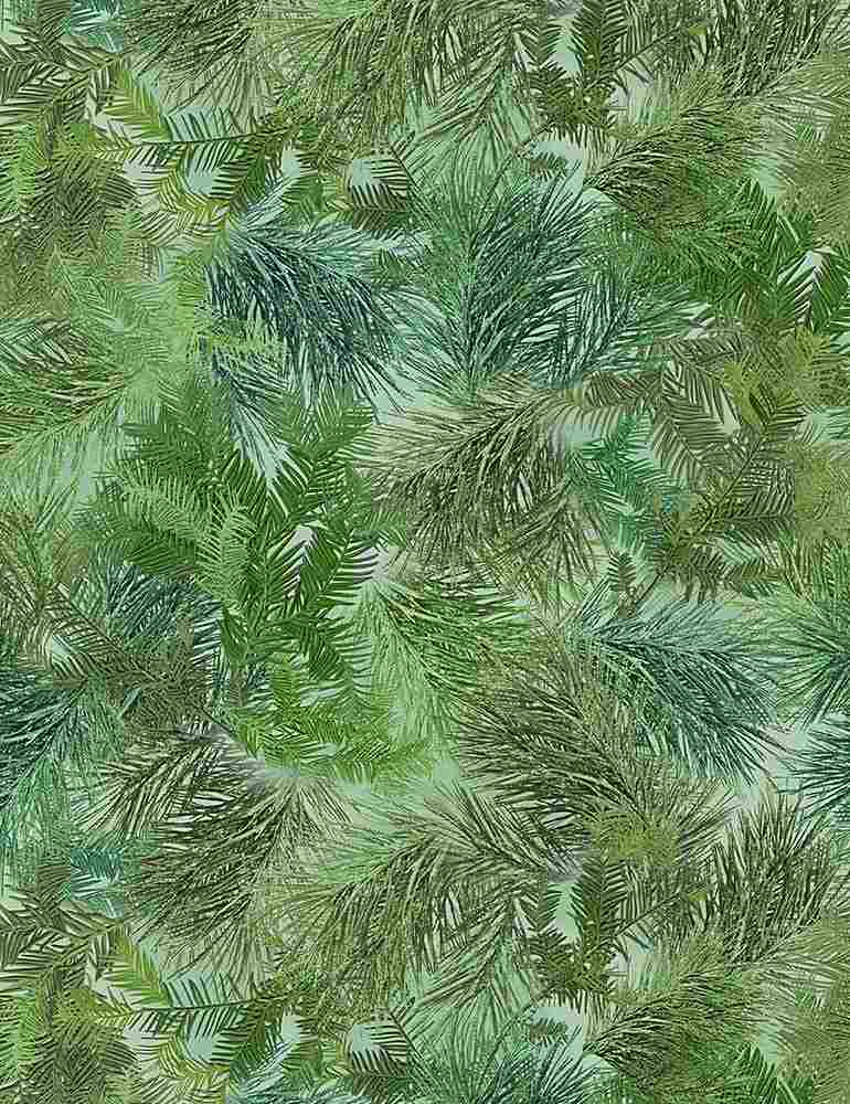 NATURE-CF7467 / GREEN / PACKED EVERGREEN LEAVES
