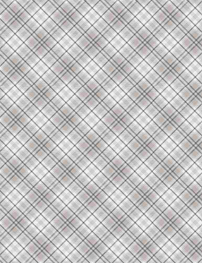 PLAID-C7476 / CREAM / WINTER LIGHT BIAS PLAID