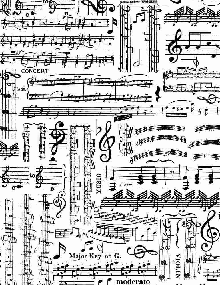 MUSIC-C7584/WHITE / MUSICSHEETS