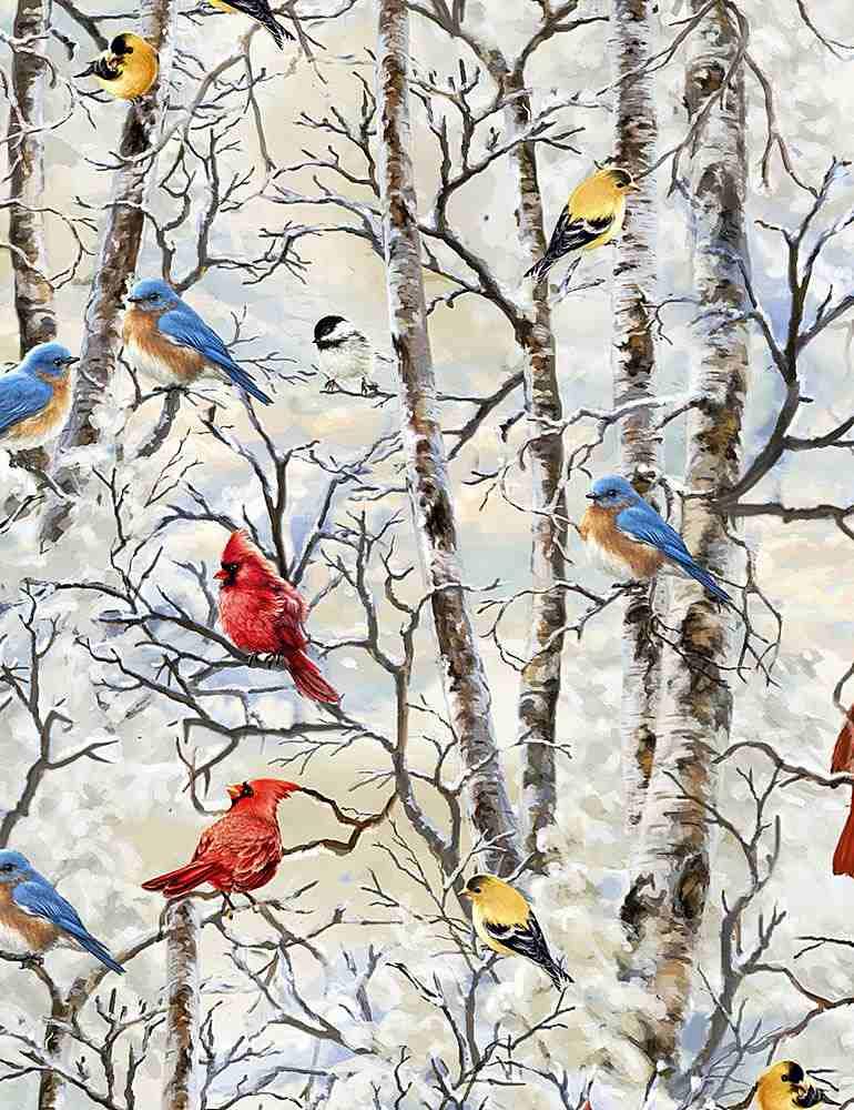 DONA-C7593/WHITE / WINTERBIRDS