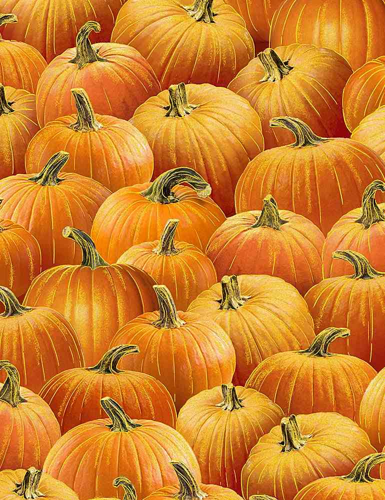 HARVEST-CM7662 / ORANGE / PACKED METALLIC PUMPKINS