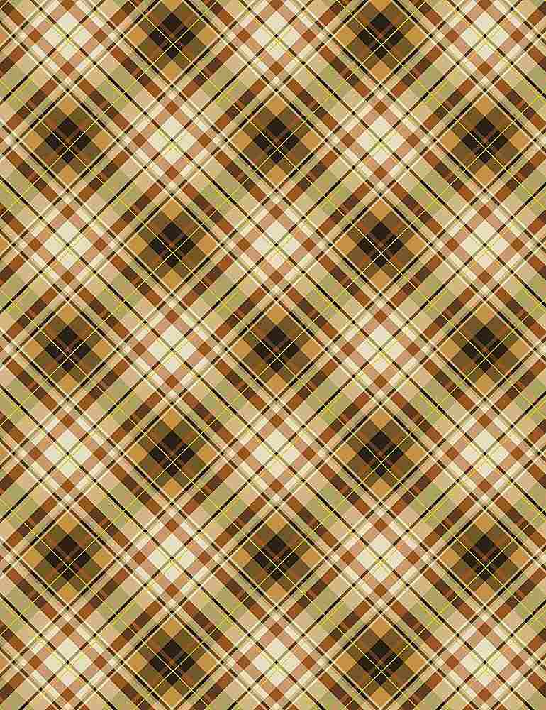 PLAID-CM7661 / BROWN / HARVEST BIAS PLAID