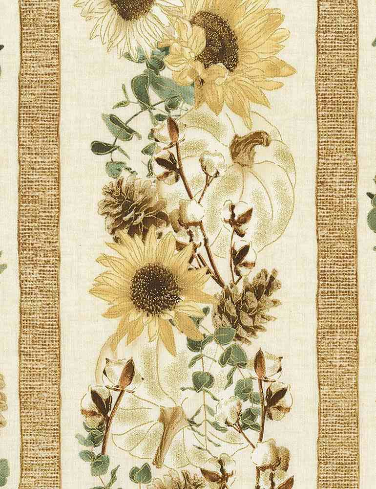 HARVEST-CM7693 / CREAM / CREAM SUNFLOWER STRIPE