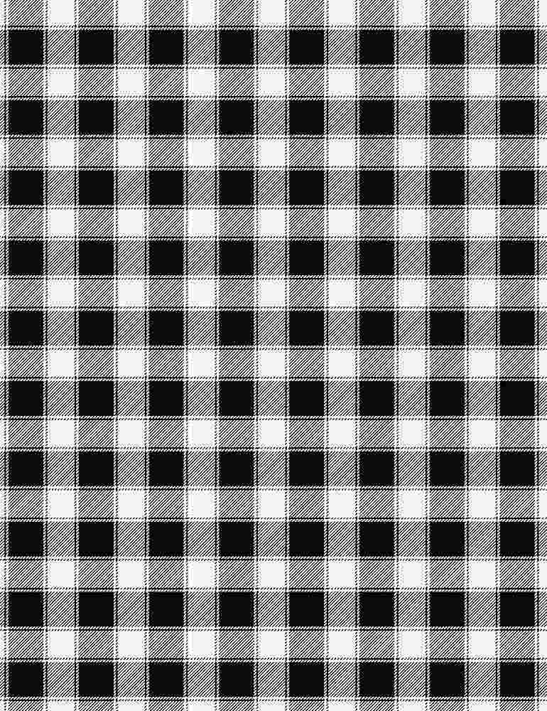 PLAID-C7701 / BLACK / BLACK AND WHITE BUFFALO PLAID