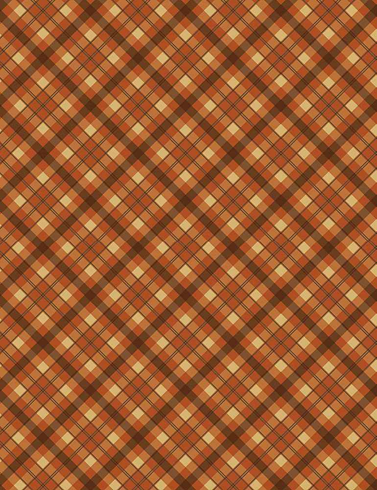 PLAID-C7652 / RUST / AUTUMN BIAS PLAID