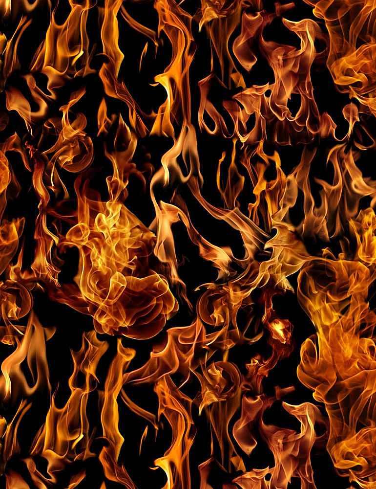 FIRE-C7734/BLACK / FLAMES