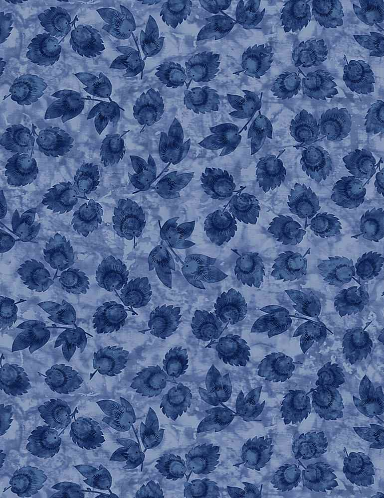 JT-C7426 / BLUE / STAMPED LEAVES