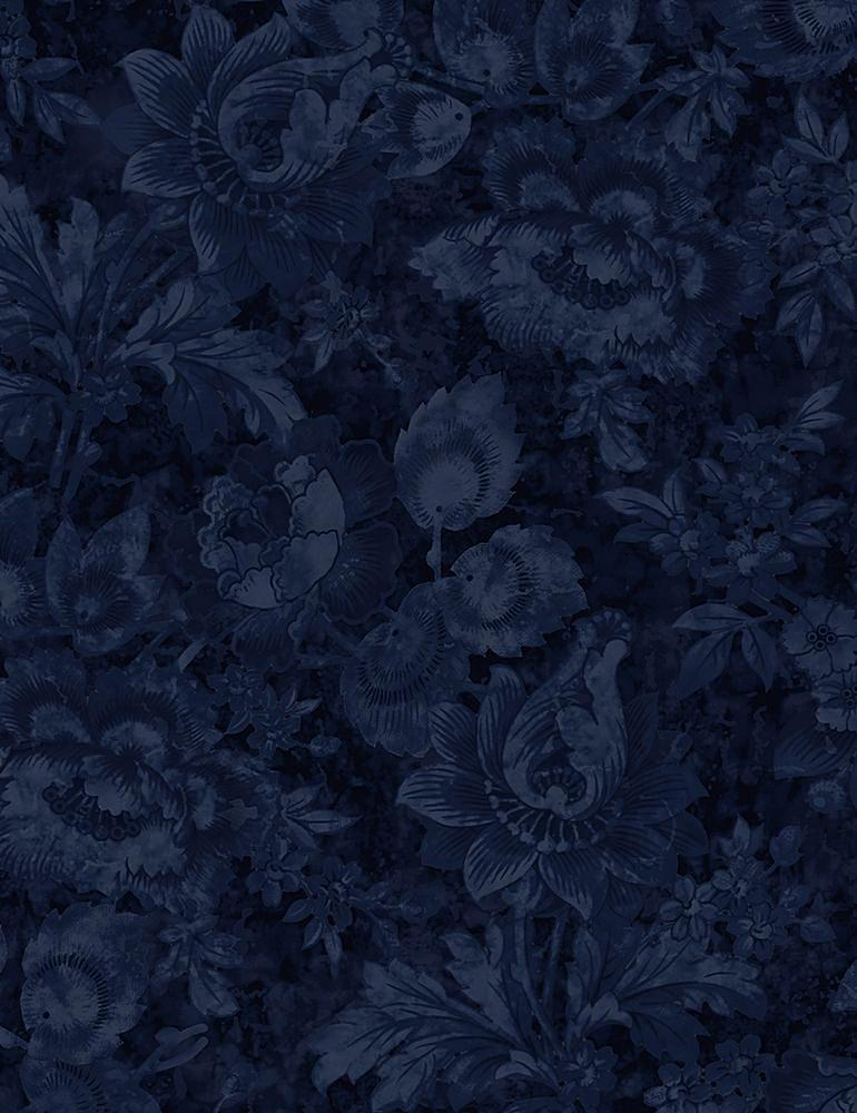 JT-C7423 / NAVY / PACKED STAMPED FLORALS