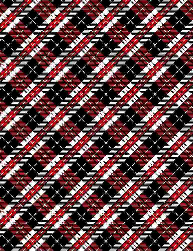GAIL-C7747 / RED / RED, BLACK AND WHITE PLAID