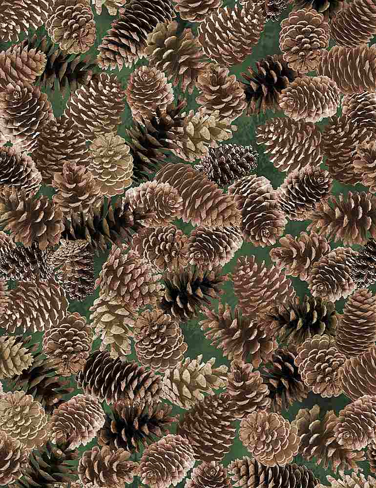NATURE-CF7466 / BROWN / PACKED PINECONES